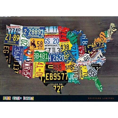 PGM Aaron Foster - USA Map II Kunstdruck 91x66cm