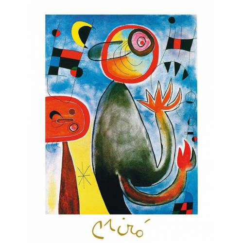 PGM Joan Miro - Les echelles en roue Kunstdruck 60x80cm