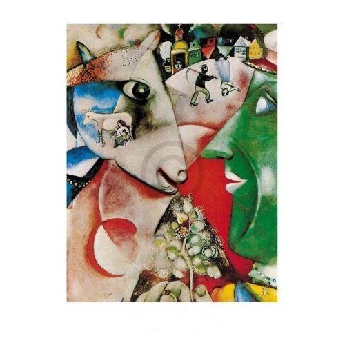 PGM Marc Chagall - I and the village, 1911 Kunstdruck 60x80cm