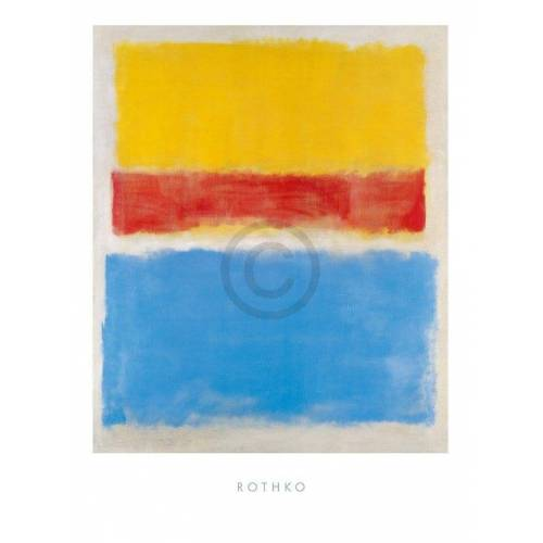 PGM Mark Rothko - Untitled Yellow-Red and Blue Kunstdruck 60x80cm