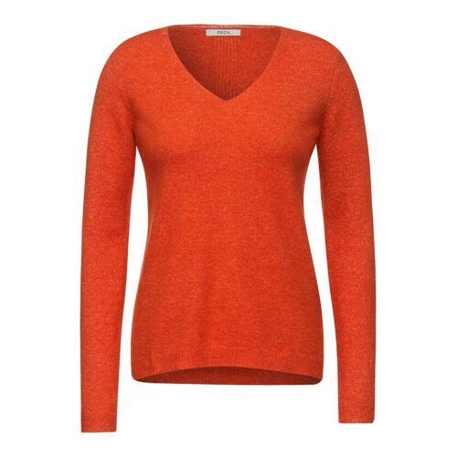 cecil Kuscheliger Strick-Pullover Orange  L M S XL XS XXL