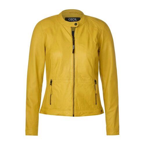 cecil Echtlederjacke im Biker Look Gelb  L M S XL XS XXL