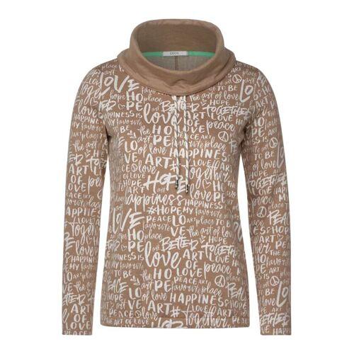 cecil Shirt mit hohem Kragen Braun  L M S XL XXL