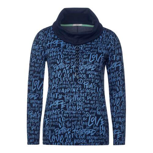 cecil Shirt mit hohem Kragen Blau  L M XL XXL