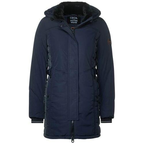 cecil Mantel mit Materialmix Blau  L M S XL XXL
