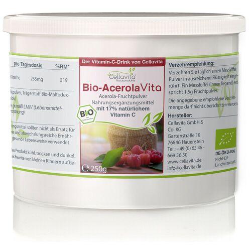 Cellavita Acerola Vita (Der Vitamin-C-Drink) 250g Pulver (5,5 Monatsvorrat)