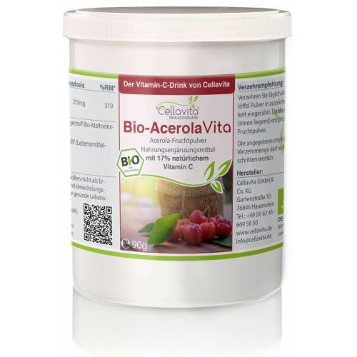 Cellavita AcerolaVita (Der Vitamin-C-Drink) 90g -2-Monatsvorrat-