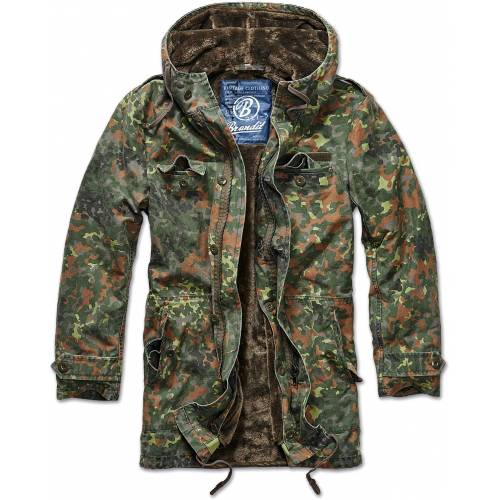 Brandit BW Parka Textiljacke Herren   - Flecktarn - L