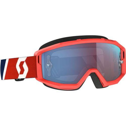 Scott Primal 1228349 S21 Crossbrille verspiegelt Herren   - Rot/Blau Blau-Verspiegelt - one size