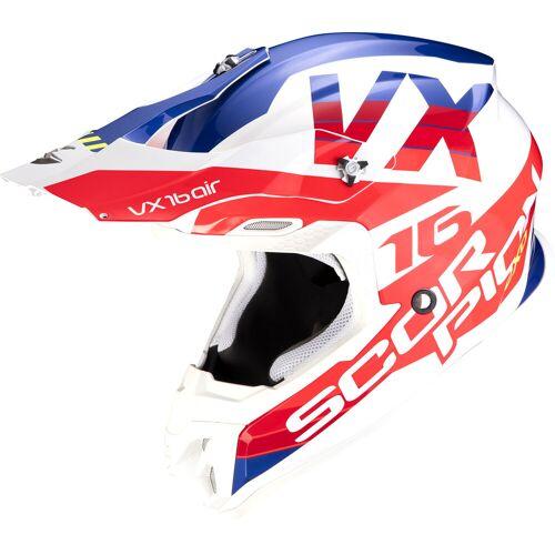 Scorpion VX-16 AIR S21 X-Turn Crosshelm   - Weiß/Rot/Blau - XL