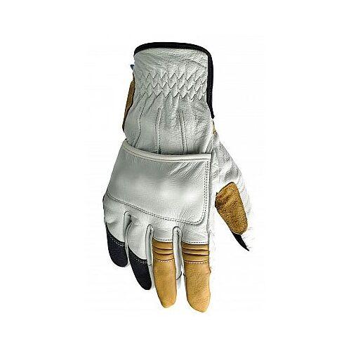 Biltwell Belden Handschuhe Herren   - Schwarz/Rot - XXL