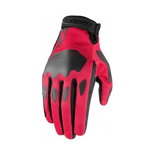 Icon Hooligan Handschuhe Damen Damen   - Pink/Schwarz - L