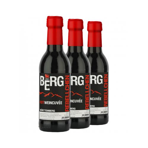 Winzer vom Weinsberger Tal Weinsberger Tal 2018 3x BergRebell Rotweincuvée 0,25 L
