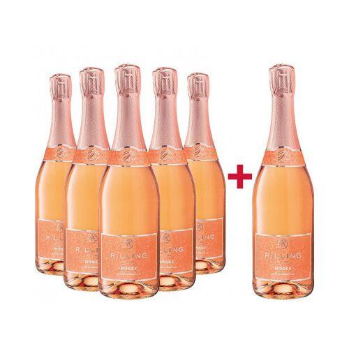 Rilling Sekt  5+1 Paket Rosé Sekt trocken