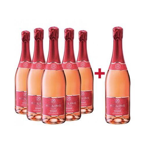 Rilling Sekt  5+1 Paket Rilling Rosé Sekt halbtrocken