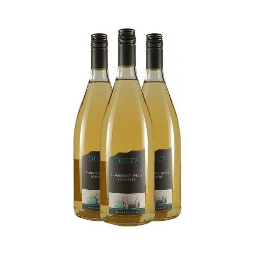 Weingut Tom & Bernd Dietz Dietz  3x Traubensaft weiß VON DER SCHEUREBE 1,0 L