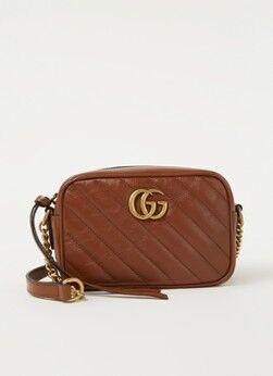 Gucci Marmont XS Crossbody-Tasche aus Leder Braun 1 maat