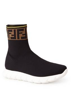 Fendi Socken-Sneaker mit Logo-Design Schwarz 38, 39