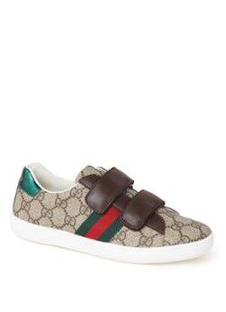 Gucci Sneaker mit Lederdetails und Logoaufdruck Braun 34