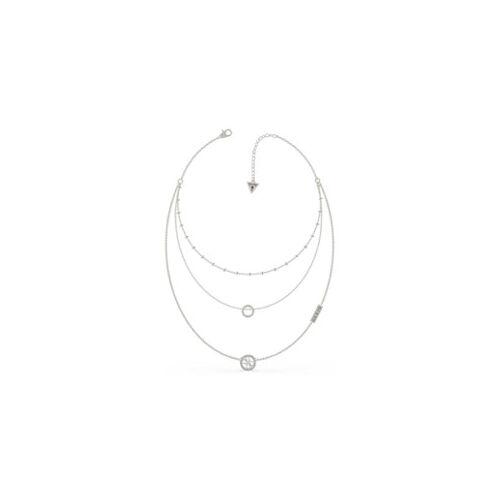 Guess Halskette mit Logo und Kristall