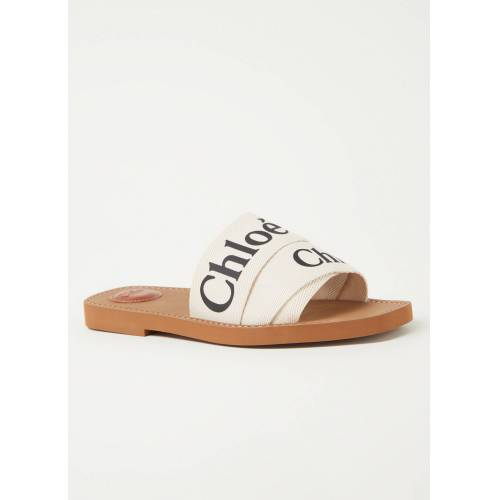 Chloé chloe Woody Canvas Slipper mit Logo