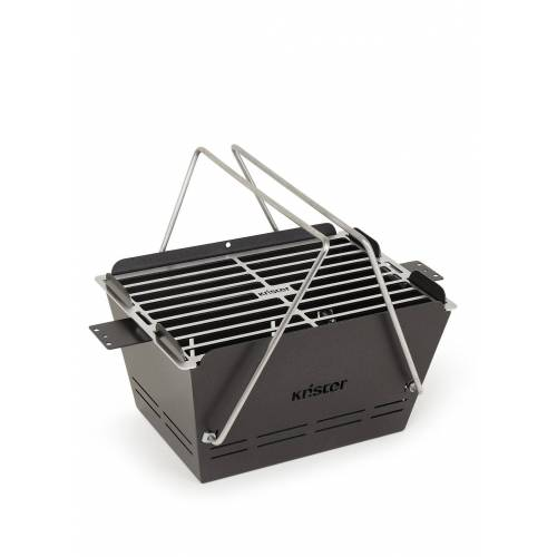 Knister Grill Small tragbarer Holzkohlegrill 26 x 40 cm