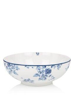 Laura Ashley Rose Salatschüssel 23 cm Königsblau