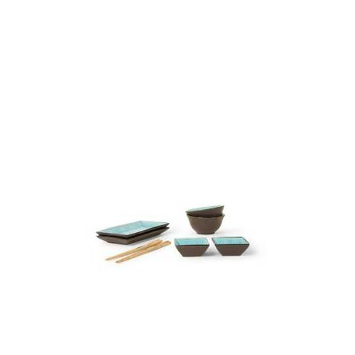Tokyo Design Studio Glassy Turquoise Star Design Sushi-Geschirr-Set 8-teilig