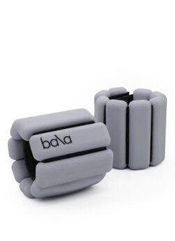 Bala Bangles Trainingsgewichte-Set für Handgelenk und Knöchel, 2er-Set je 0,5 kg Hellgrau