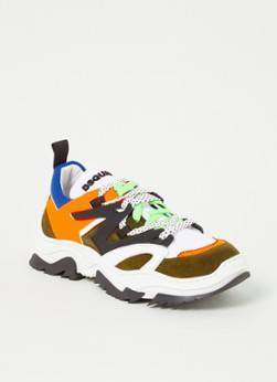 Dsquared2 Giant Sneaker mit Leder- und Wildlederdetails Grün 34, 36, 37