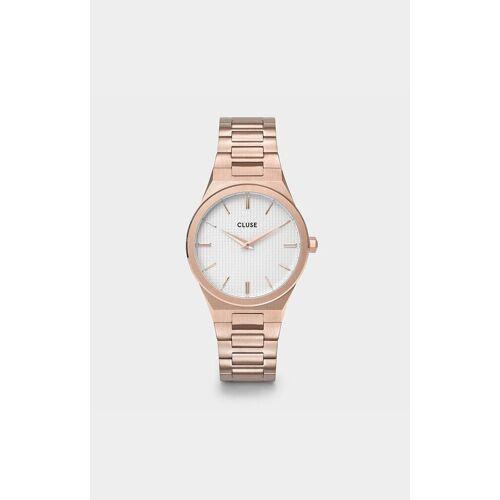 Cluse Uhr Vigoureux H-Link Rose gold Snow White/Rose Gold