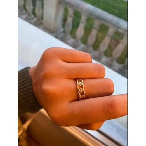 Ring Gold Gliederkette 52