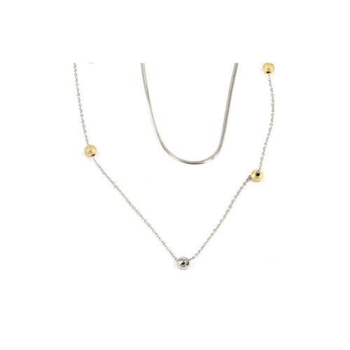 ZAG Bijoux Halskette doppelt Silber Gold