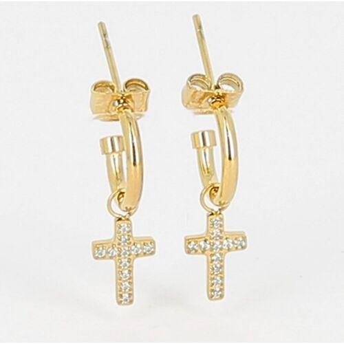 Zag Bijoux Ohrringe Kreuz Gold