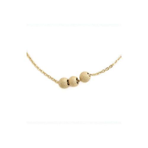ZAG Bijoux Kurze Halskette Perlen Gold 38 + 5 cm