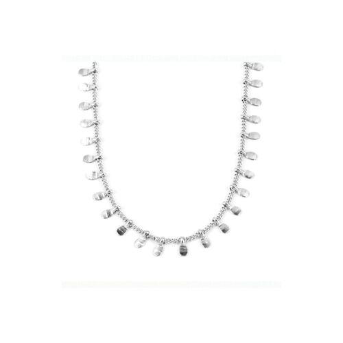 ZAG Bijoux Kurze Halskette mit Plättchen Silber 38 + 5 cm