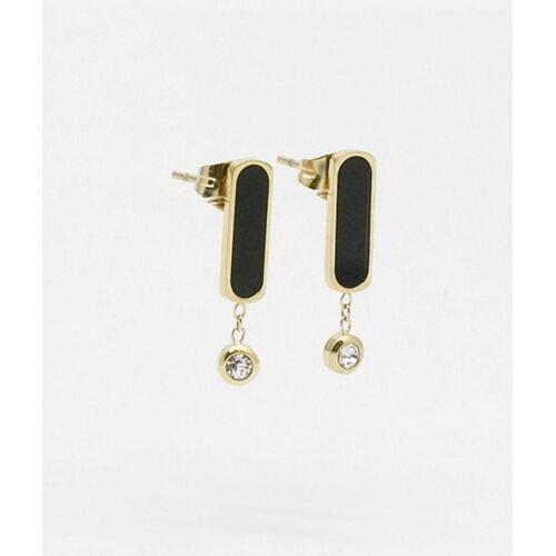 Zag Bijoux Ohrringe Gold Schwarz