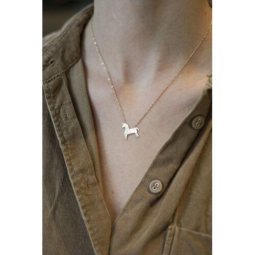 ZAG Bijoux Halskette Einhorn Origami Gold