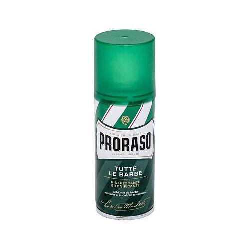 PRORASO Green Shaving Foam rasierschaum mit menthol und eukalyptus 100 ml für Männer