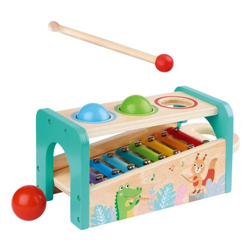 New Classic Toys Lelin Spielzeug   Hammerballspiel mit Metallophon