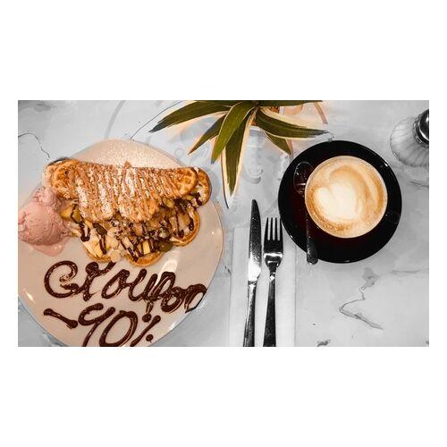 Amirello Coffee 1, 2 oder 4 Waffeln mit Eis, Früchten und Toppings inkl. Heißgetränk bei Amirello Coffee (bis zu 39% sparen*)