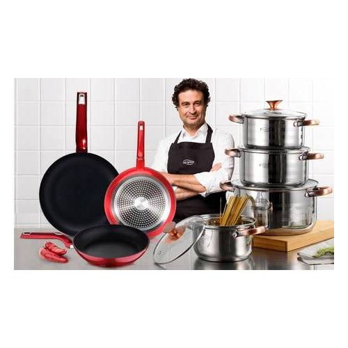 Groupon Goods Global GmbH Bergner8er-Kochtopf- und 3er-Pfannen-Set