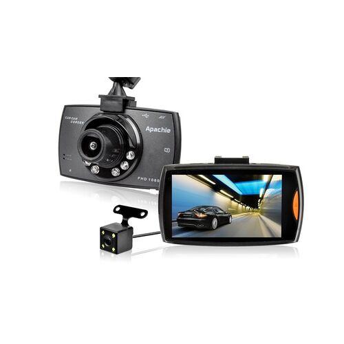 Groupon Goods Global GmbH Apachie Full-HD-Dashcam G50 mit vorderer und hinterer Kamera, optional mit SD-Karte
