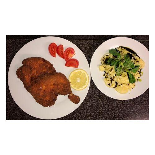 Café Alt Wien Backhendl mit Kartoffelsalat und Marillen-Palatschinken für 2 oder 4 Personen im Café Alt Wien (bis zu 46% sparen*)