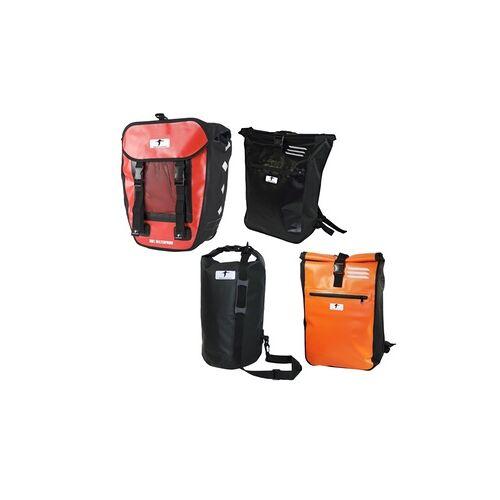 """Groupon Goods Global GmbH 1x oder 2x Messenger Bag, Packsack """"Dry Bag"""", Pro Fahrradtasche, Kurier-Rucksack oder 3er Set Kurier-Rucksäcke"""