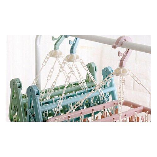 Groupon Goods Global GmbH Faltbarer Kleiderbügel in Pink, Blau oder Grün