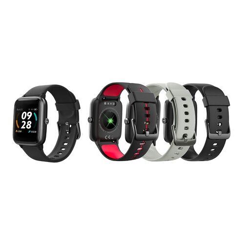 Groupon Goods Global GmbH Weeplug Smartwatch Smartfit mit GPS in Schwarz, Grau oder Rot