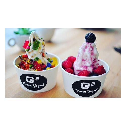G2 Café Frozen Yogurt mit bis zu 3 Toppings und Sauce im G2 Café (bis zu 30% sparen*)