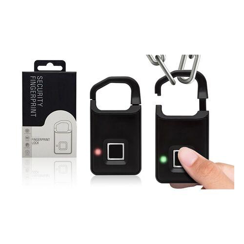 Groupon Goods Global GmbH Aquarius Fingerabdruck-Vorhängeschloss in Schwarz