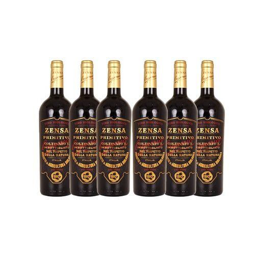 Saymo GmbH 6 oder 12 Flaschen Zensa Primitivo 2019 Bio-Rotwein, 0,75 l inkl. Versand